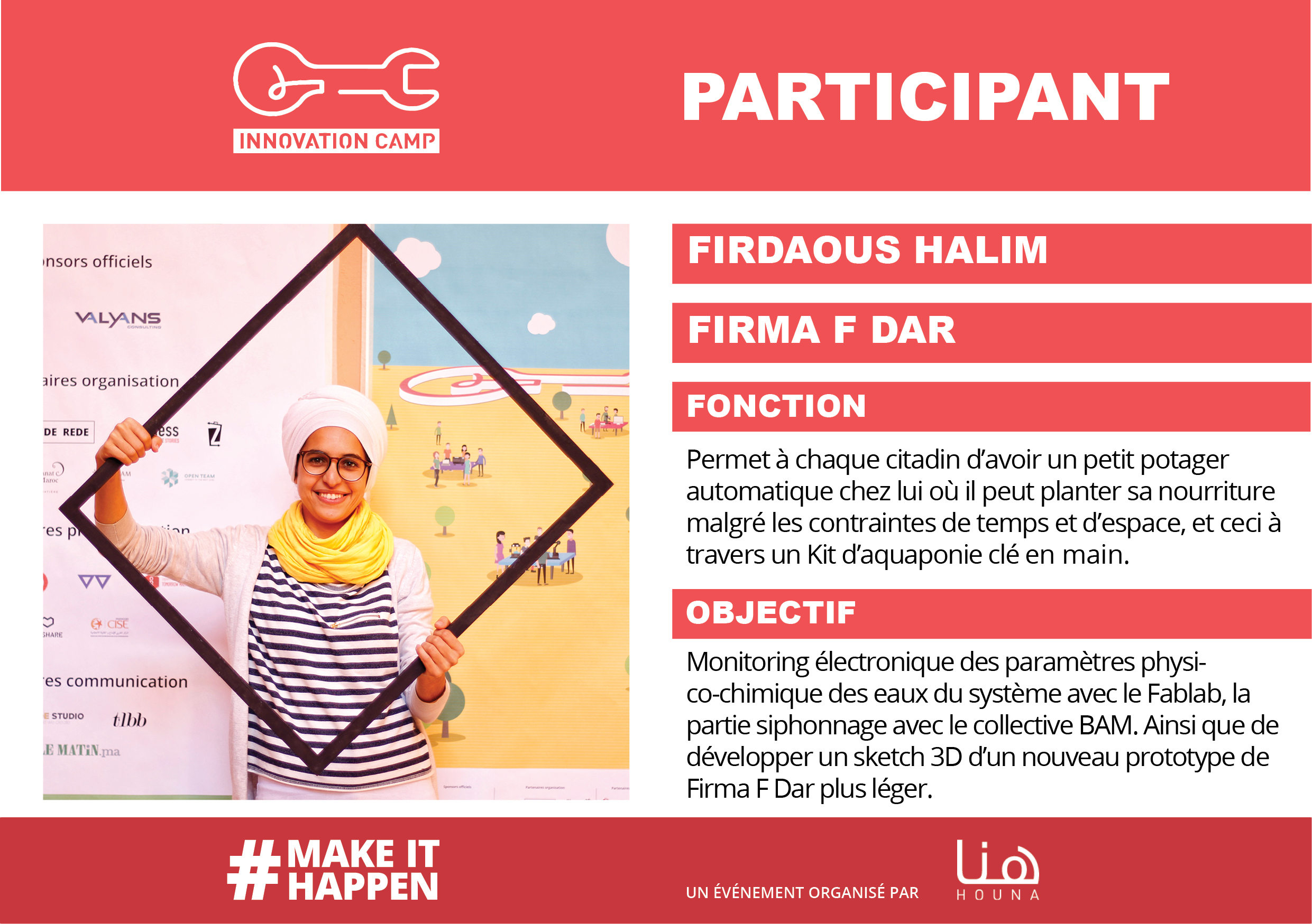 Firdaous Halim - plateforme collaborative - houna